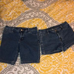 Dark blue shorts jeans